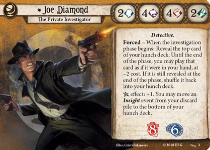 Joe Diamond Investigator Card