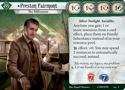 Preston Fairmont Investigator Card