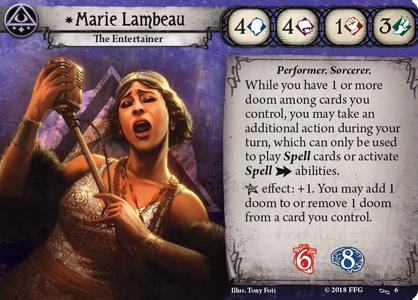 Marie Lambeau Investigator Card