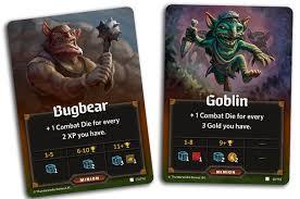 Minion card of Bugbear and a Goblin