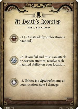 At Death's Doorstep Scenario Card