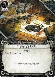 Emergency Cache card