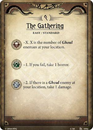 The Gathering, first scenario in the core set, scenario card