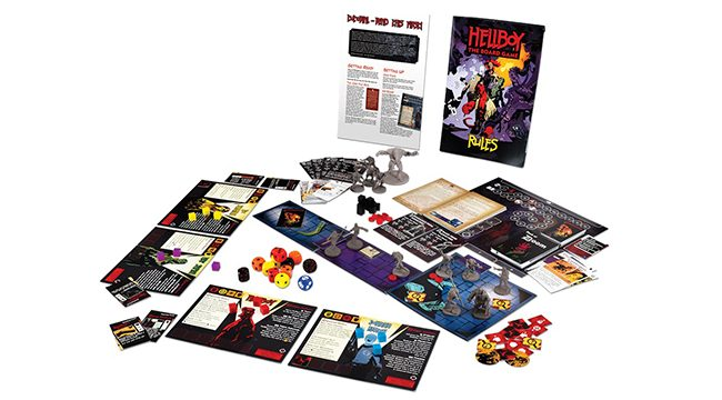 Hellboy the board game contents shot