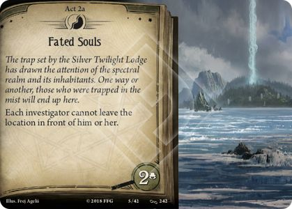 Picture of Act 2 card Fated Souls.